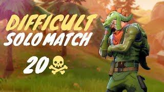 DIFFICULT Solo Match! - 20 Eliminations (Fortnite Battle Royale)