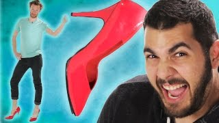 Guys Wear Heels For The First Time
