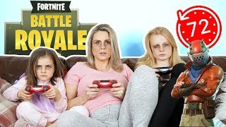 BRiTiSH FAMiLY PLAYS FORTNITE FOR 72 HOURS!!! 🤪🎮