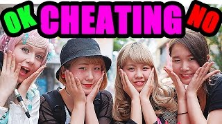 Ask Japanese girls about CHEATING Boyfriends / Girlfriends | DATING & LOVE RELATIONSHIPS|浮気を許す?#1