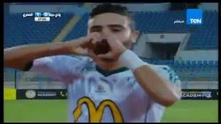 احمد كابوريا يحرز الهدف الاول لنادى المصرى... وادى دجلة VS المصرى 0 / 1