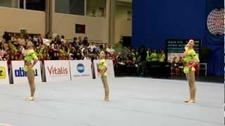 Maia 2012 Acro World Cup Dynamic Russian Women's Trio Shaikhutdinova, Stroynova, Loginova
