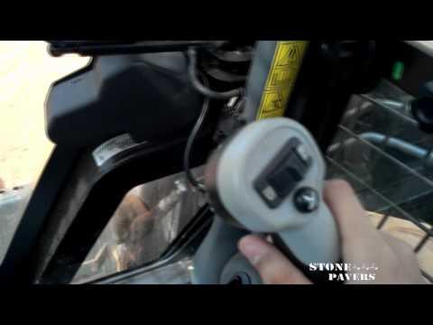 Como operar bobcat joystick sistema ISO Mini Carregadeira NEW HOLLAND L218