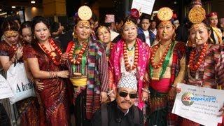 हङकङमा जनजातिहरुको विरोध जुलुस