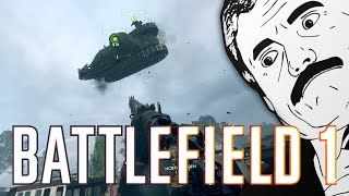 FLYING TANK GLITCH! (Battlefield 1 Funny Glitches)