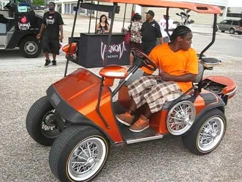 Stupid Tim in Orange Line Golf Car SLAB on Swangaz 84 s