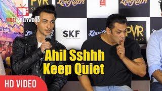 Salman Khan Shouts At Nephew Ahil Sharma | CUTE Moment | Loveratri Offcial Trailer Launch