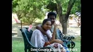 Desi CoupleKissing In A Park
