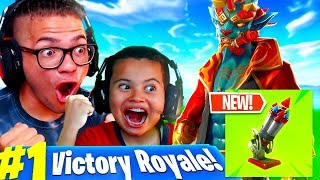 *NEW* BOTTLE ROCKETS GAMEPLAY IN FORTNITE BATTLE ROYALE (IS IT GOOD?) 10 YEAR OLD KID BEATS EVERYONE