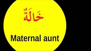 My Family Member in Arabic - الاسرة باللغة العربية