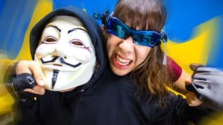 EPIC Hacker Battle Royal Fight In Real Life with Spy Gadgets! (Project Scorpion and Zorgo!)