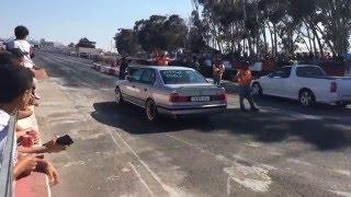 BMW M5 TURBO WHACKS a Chev UTE & more