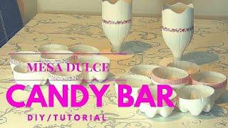 DIY: tutorial para hacer un candy bar o mesa dulce low cost reciclando!!