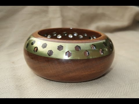 Turning a Goncalo Alves Bowl with Bronze Inlay
