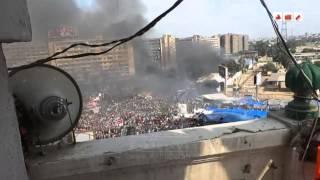 رصد | لحظة اقتحام قوات الجيش و الشرطة لاعتصام رابعة العدوية