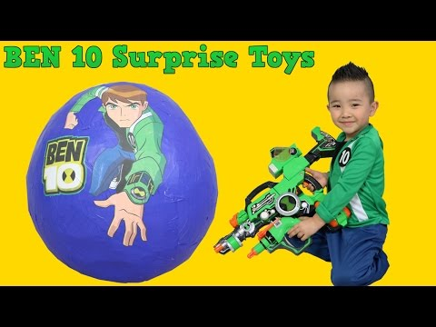Ben 10 Giant Surprise Egg Toys Opening And Unboxing Fun With Ckn Toys Omniverse Ultimate Alien