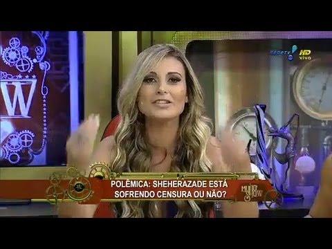 Muito Show Andressa Urach garante Fab ola Reipert tem silicone no bumbum 2014 mircmirc