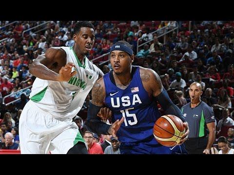 Nigeria @ USA 2016 Olympic Basketball