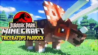 Let's Build : Minecraft Jurassic Park | TRICERATOPS & FAECES (Minecraft Dinosaurs Part 5)