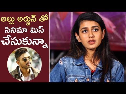 Xxx Mp4 Missed Even Allu Arjun Sir S Movie Says Priya Varrier Priya Prakash Varrier Interview TFPC 3gp Sex
