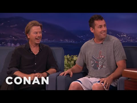 Adam Sandler Warned Chris Farley Not To Beat Up David Spade CONAN on TBS