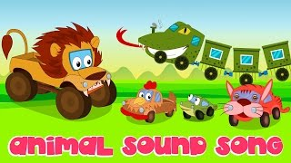 Animal Sound Song   Nursery Rhymes   Kids Song   Car Rhyme