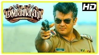 Mankatha Tamil Movie Scenes   Ajith Intro   Ajith fights police to save Aravind Akash   Thala 50