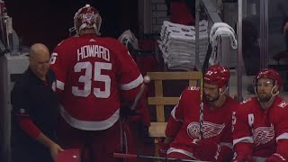 Red Wings' Howard gets pulled after giving up fourth goal to Oilers