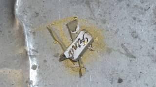 How do you reuse scraps of gold processing
