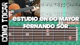 Cómo tocar - Estudio en Do Mayor (Study in C) op 31 No 1 F. Sor / Tutorial Guitarbn
