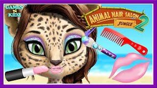 Fun Animal Care - Baby Learn Animal Makeover, Hair Care - Jungle Animal Hair Salon 2 Kids Games