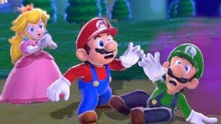 Super Mario 3D World 100% Co-Op Walkthrough - World 1 (All Green Stars & Stamps)