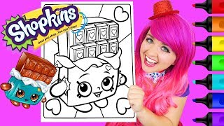 Coloring Shopkins Cheeky Chocolate Coloring Page Prismacolor Colored Paint Markers | KiMMi THE CLOWN