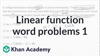 Linear function word problems — Basic example | Math | New SAT | Khan Academy