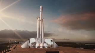 Falcon Heavy Animation