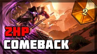 Hearthstone - 2HP comeback vs agro shaman