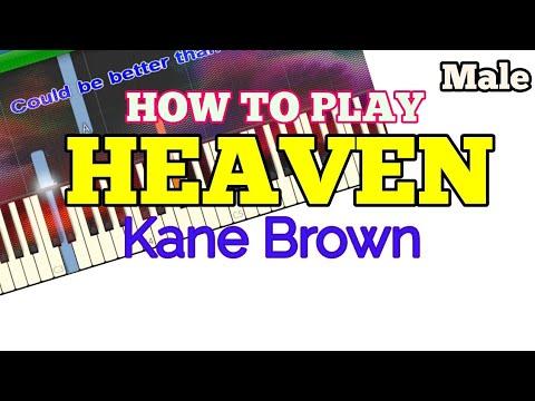 [How to, Male] Heaven - Kane Brown (Easy Piano Tutorial + LyricsLyric Video)