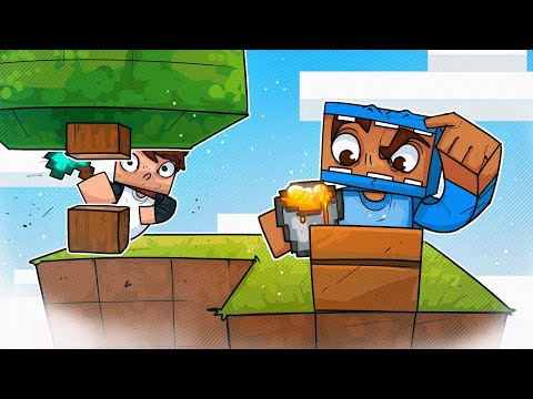 Two Dummies Try Skyblock Minecraft