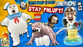 Lets Build & Play LEGO Dimensions #13: MARSHMALLOW FACES!  S'more Ghostbusters (FGTEEV Messy Pt. 2)