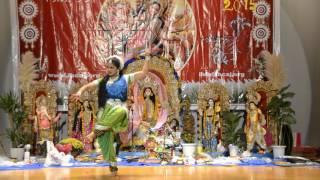 Mayuri`s as Mahishasur Mardini @Dussehra 2015 celebration by Bengali Tokyo Association