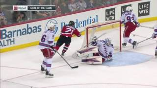 Big stop on one end, Zibanejad OT winner on the other for Rangers win
