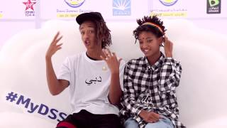 Jaden and Willow Smith in Dubai