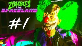 Call of Duty Infinite Warfare Zombies Gameplay Part 1 - ZOMBIE CLOWNS!! (Zombies in Spaceland)