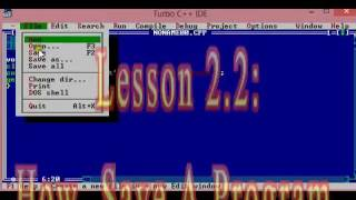 Lesson 2.2: How To Save A Program In C++  [Turbo Cpp Program Saving] .