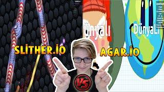 YILANLAR TOPLARA KARŞI! - (Agar.io vs Slither.io)