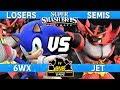 Smash Ultimate Best Tournament Match Yet - 6WX (Sonic/Incineroar) v Jet (Incineroar) - CN:B-Airs 166