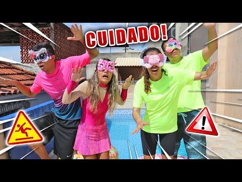 CIRCUITO ENTRE NAMORADOS DE OLHOS VENDADOS KIDS FUN