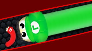 Slither.io Super Mario Skin Mod Biggest Snake Killer! (Slither.io Epic Gameplay)