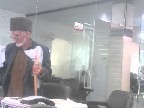 Funny Chacha Gul Ahmed in a Bank