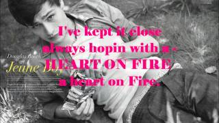 Douglas Booth Heart on Fire lyrics